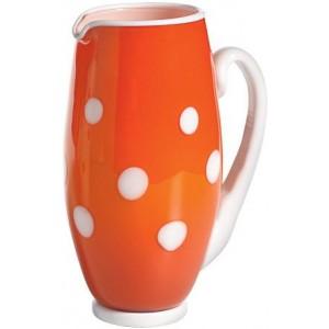 Графин Bon Bon Carafe оранжевый ГОРОШЕК белый