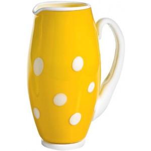 Графин Bon Bon Carafe желтый ГОРОШЕК белый