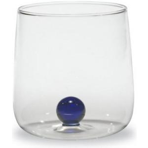 Прозрачный стакан Bilia синий мрамор