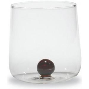 Прозрачный стакан Bilia янтарный мрамор