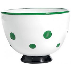 Салатник Bon Bon Bowl белый ГОРОШЕК зеленое яблоко