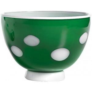 Салатник Bon Bon Bowl зеленое яблоко ГОРОШЕК белый