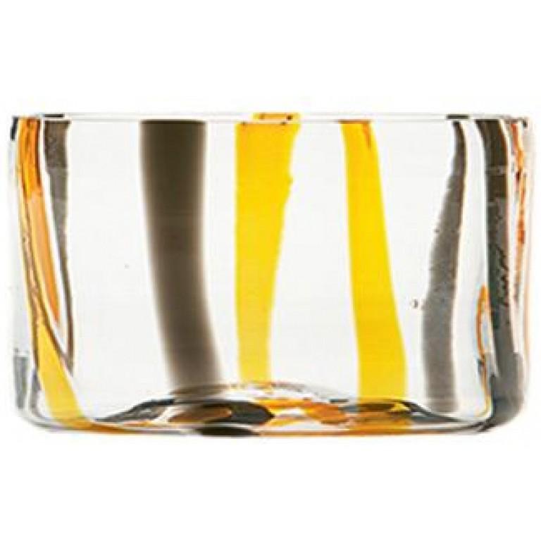 Салатник Tirache Bowl черно оранжевый