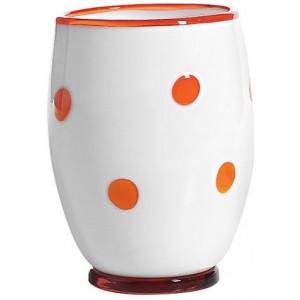 Стакан Bon Bon Tumbler белый ГОРОШЕК оранжевый