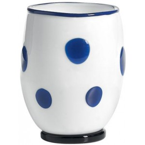 Стакан Bon Bon Tumbler белый ГОРОШЕК синий