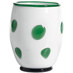 Стакан Bon Bon Tumbler белый ГОРОШЕК зеленое яблоко