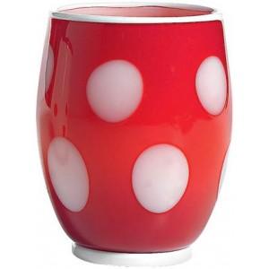 Стакан Bon Bon Tumbler красный ГОРОШЕК белый