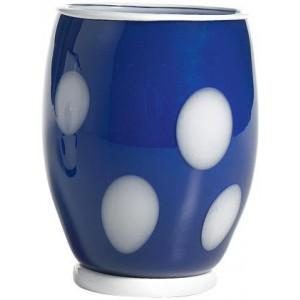 Стакан Bon Bon Tumbler синий ГОРОШЕК белый