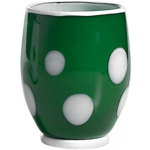Стакан Bon Bon Tumbler зеленое яблоко ГОРОШЕК белый