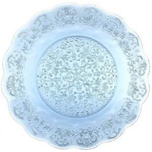 Тарелка Barocco Glass Plate аквамарин