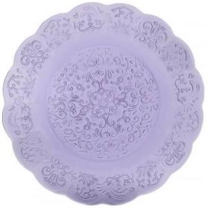 Тарелка Barocco Glass Plate аметист