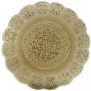 Тарелка Barocco Glass Plate серый