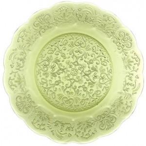 Тарелка Barocco Glass Plate зеленое яблоко