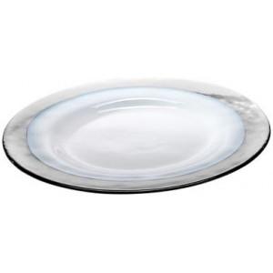 Тарелка Strip Glass Plate прозрачная