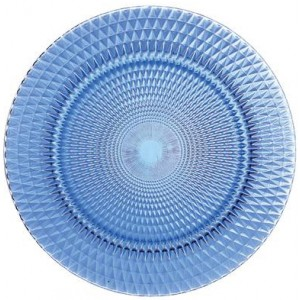 Тарелка Veneziano Glass Plate синий