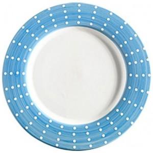 Тарелка фарфоровая Perle аквамарин