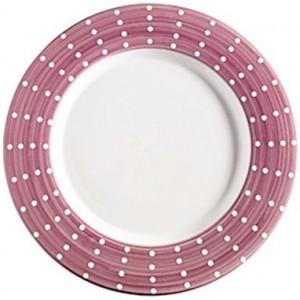 Тарелка фарфоровая Perle аметист