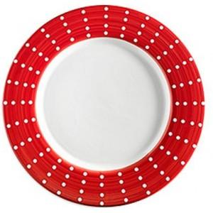 Тарелка фарфоровая Perle красная