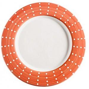 Тарелка фарфоровая Perle оранжевая
