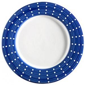 Тарелка фарфоровая Perle синяя