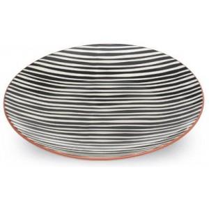 Тарелка плоская Tue черные полосы