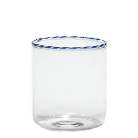 Винный стакан Intrecci синий белый