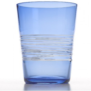 Прозрачный стакан Filante синий