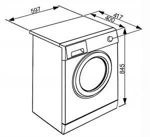 Отдельностоящая стиральная машина LBW610CIT3