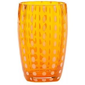 Стакан средний Perle оранжевый