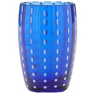 Стакан средний Perle синий