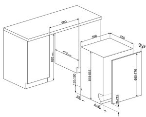 Полностью встраиваемая посудомоечная машина STL67336L