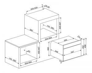 Компактный духовой шкаф SF4604PVCNX1