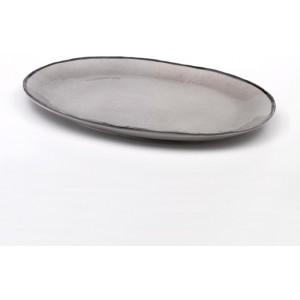 Плоская овальная тарелка Juta