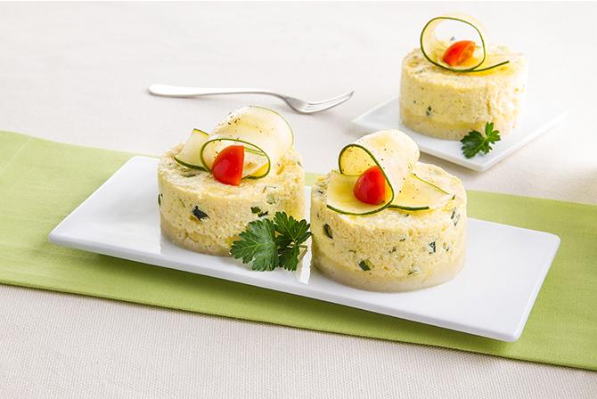 Courgette and mozzarella cheesecake