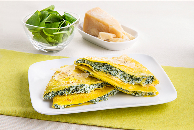 Ricotta and spinach pancakes