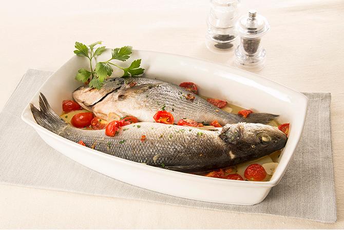 """""""Acqua pazza"""" with mixed fish"""