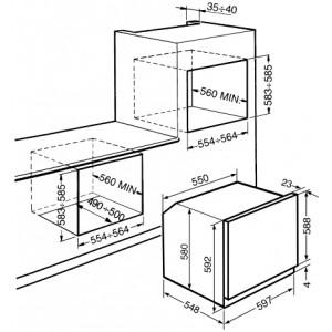 Многофункциональный духовой шкаф SFP6102TVB