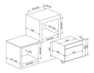 Компактный духовой шкаф, комбинированный с микроволновой печью SF4604PMCNX