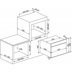 Компактный духовой шкаф, комбинированный с микроволновой печью SF4102MCS