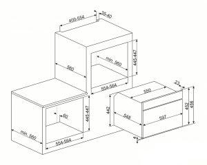 Компактный духовой шкаф, комбинированный с микроволновой печью SF4920MCP1