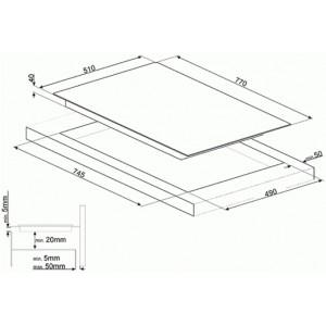 Cтеклокерамическая варочная панель SE384EMTD