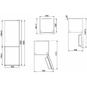 Отдельностоящий холодильник FC182PXN