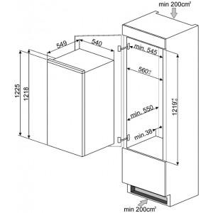 Встраиваемый холодильник S7212LS2P1