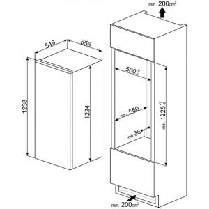 Встраиваемый холодильник S8C124DE