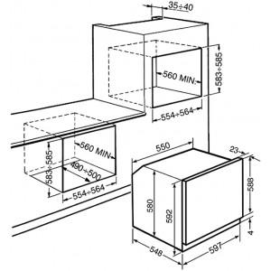 Многофункциональный духовой шкаф SF6922BPZE1