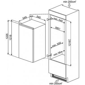 Встраиваемый холодильник S7192CS2P1