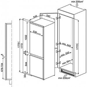 Встраиваемый холодильник C7280NLD2P1