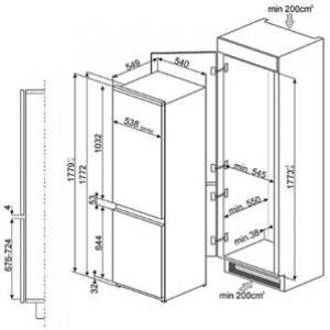 Встраиваемый холодильник C3170FP1