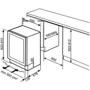 Холодильный шкаф для вина встраиваемый CVI338RWX2