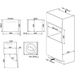 Холодильный шкаф для вина встраиваемый CVI618RWNR2
